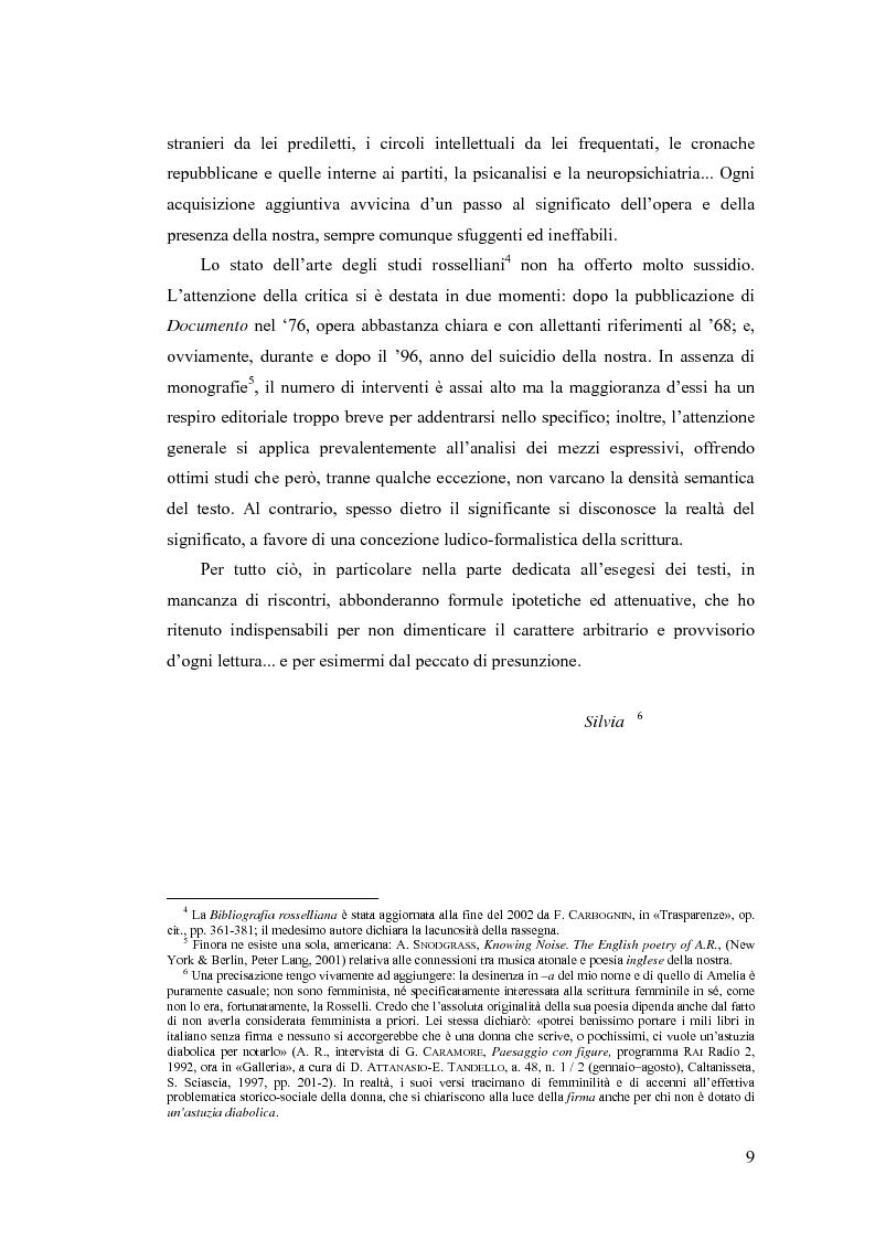Anteprima della tesi: ''...irrimediabile era il male del mondo, e con ciò il mio male...'': storia, Storia e prima poesia (1930-1961) di Amelia Rosselli, Pagina 4