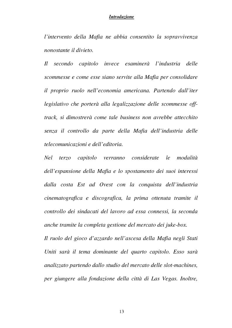 Anteprima della tesi: Criminalità ed economia: la mafia in America, Pagina 10