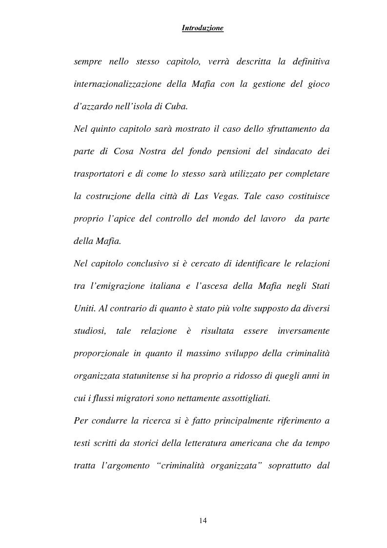 Anteprima della tesi: Criminalità ed economia: la mafia in America, Pagina 11