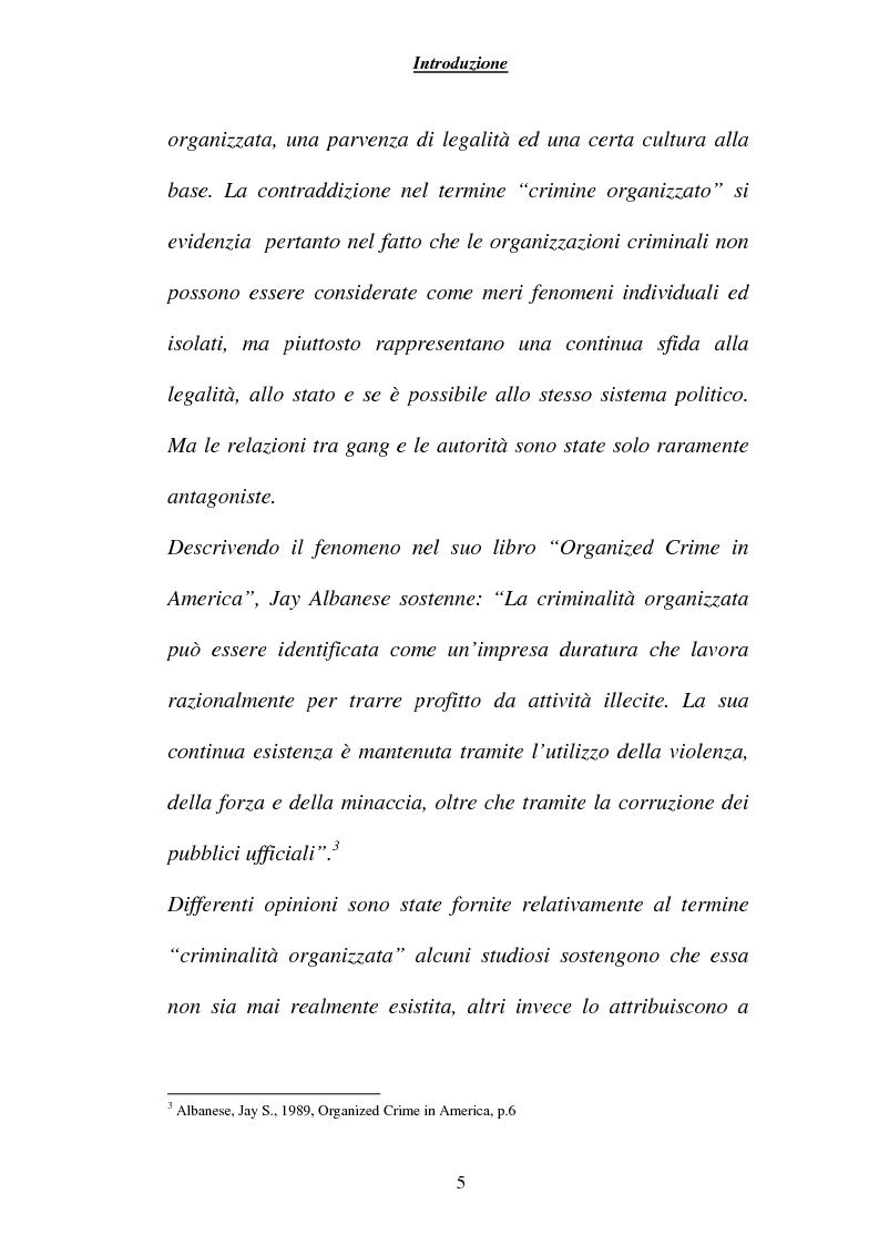 Anteprima della tesi: Criminalità ed economia: la mafia in America, Pagina 2