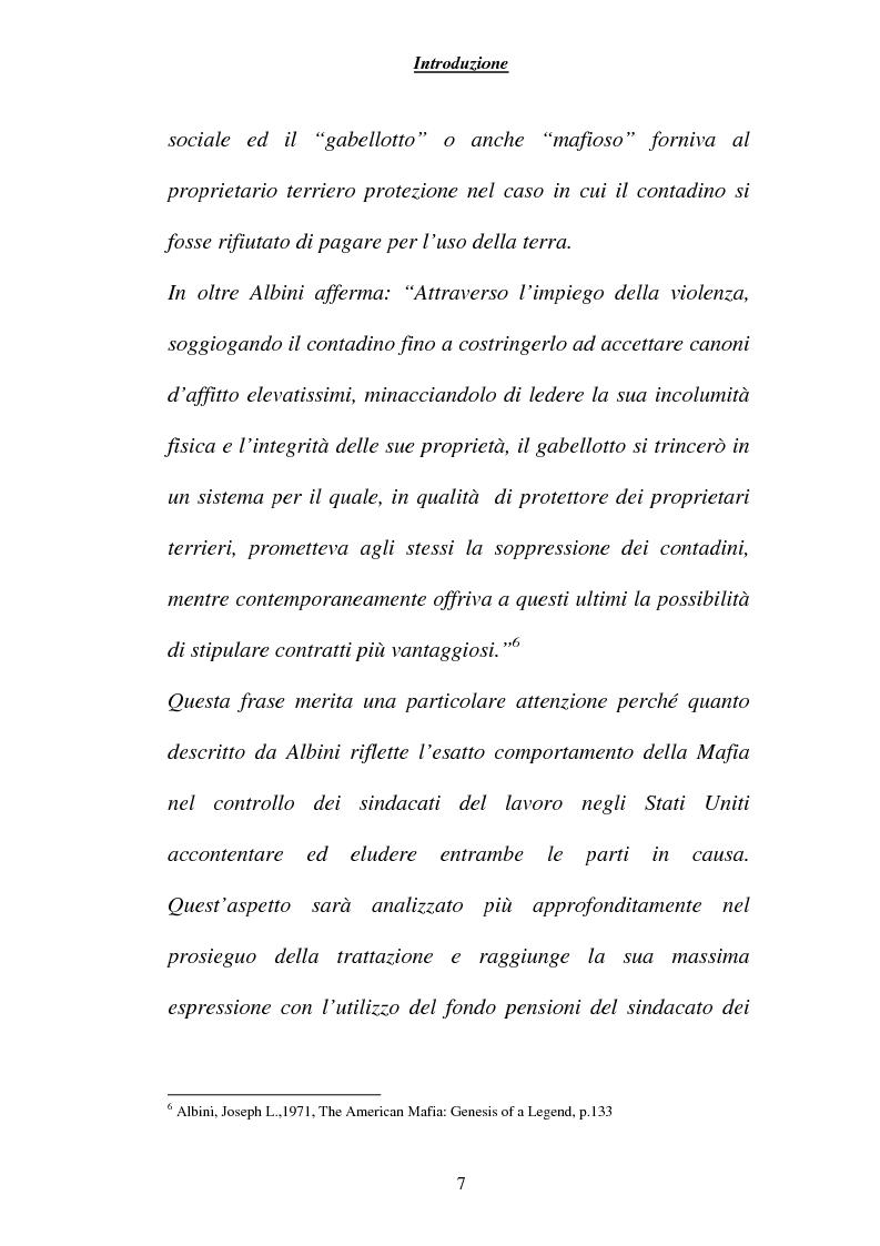 Anteprima della tesi: Criminalità ed economia: la mafia in America, Pagina 4