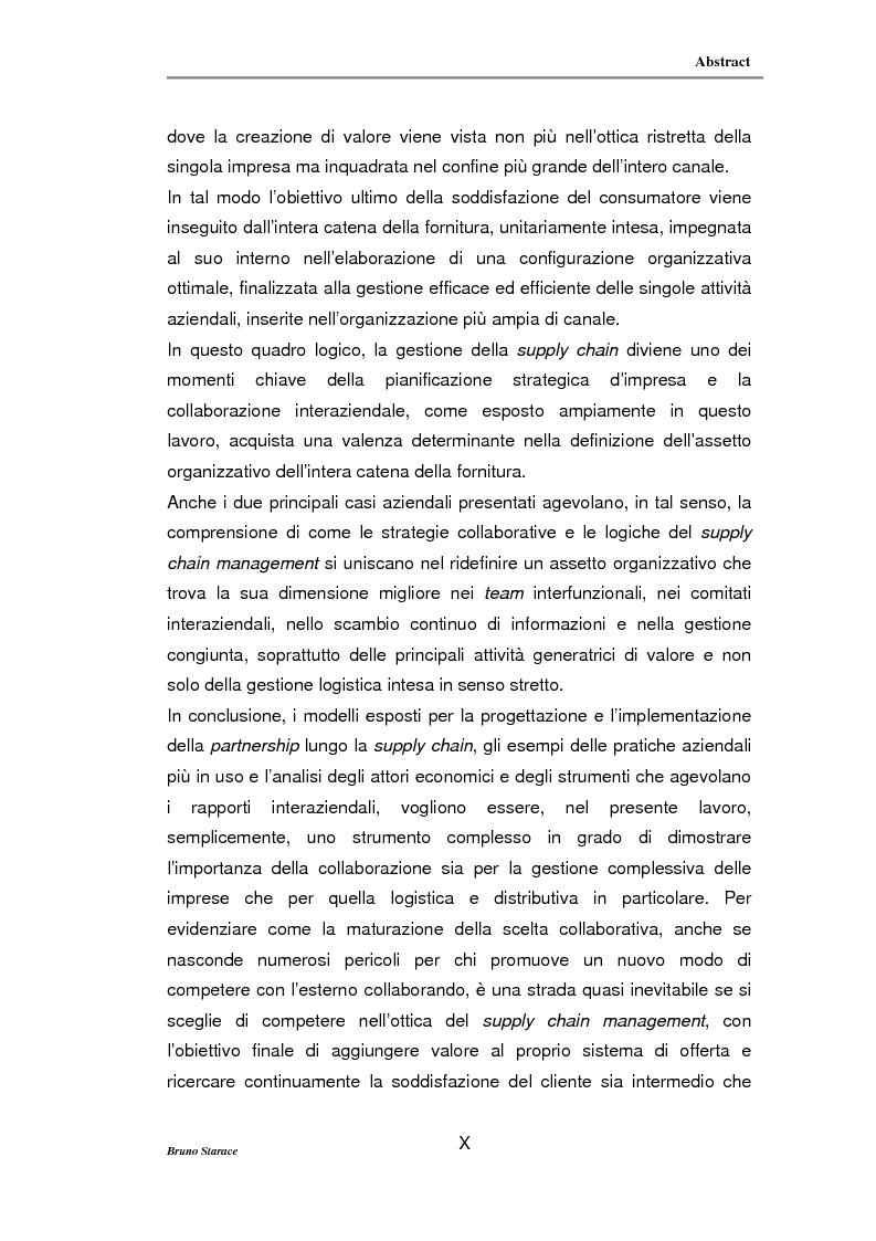 Anteprima della tesi: La gestione dei servizi logistici e le strategie di collaborazione lungo la supply chain, Pagina 10