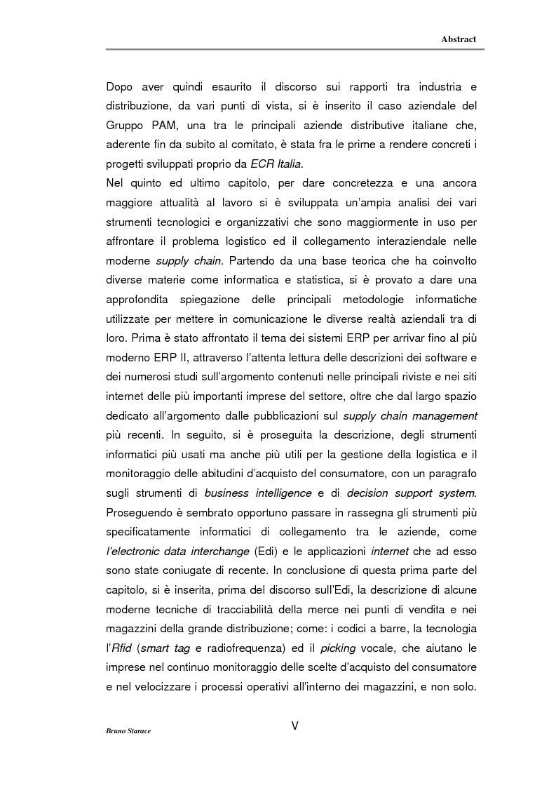 Anteprima della tesi: La gestione dei servizi logistici e le strategie di collaborazione lungo la supply chain, Pagina 5
