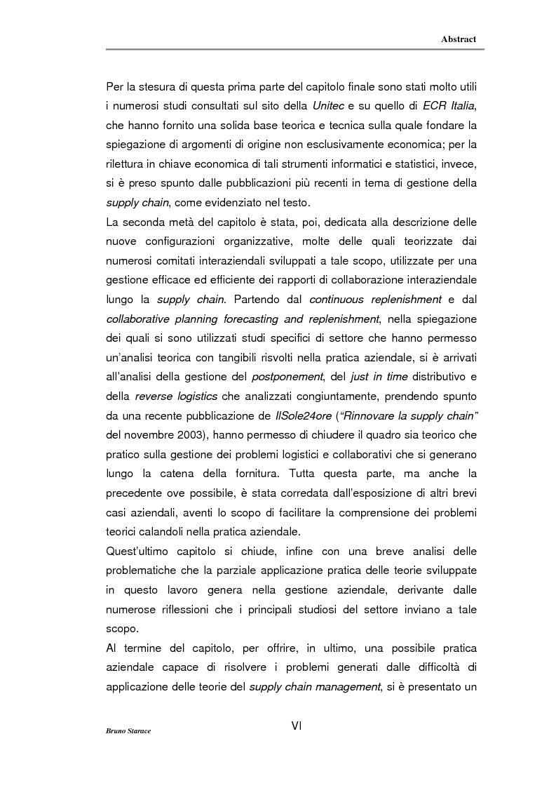 Anteprima della tesi: La gestione dei servizi logistici e le strategie di collaborazione lungo la supply chain, Pagina 6