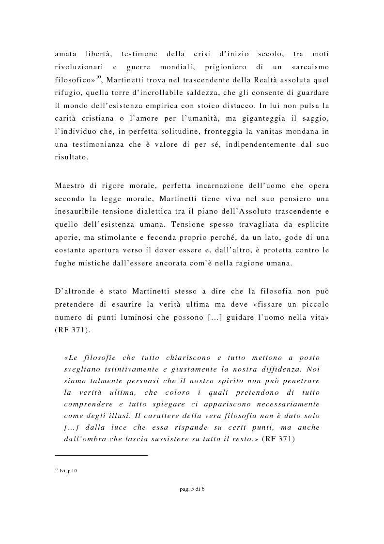 Anteprima della tesi: La filosofia morale di Piero Martinetti e il problema del male, Pagina 5