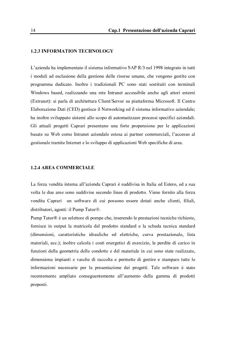 Anteprima della tesi: La configurazione di prodotto in ambiente Sap R/3: il caso Caprari, Pagina 10