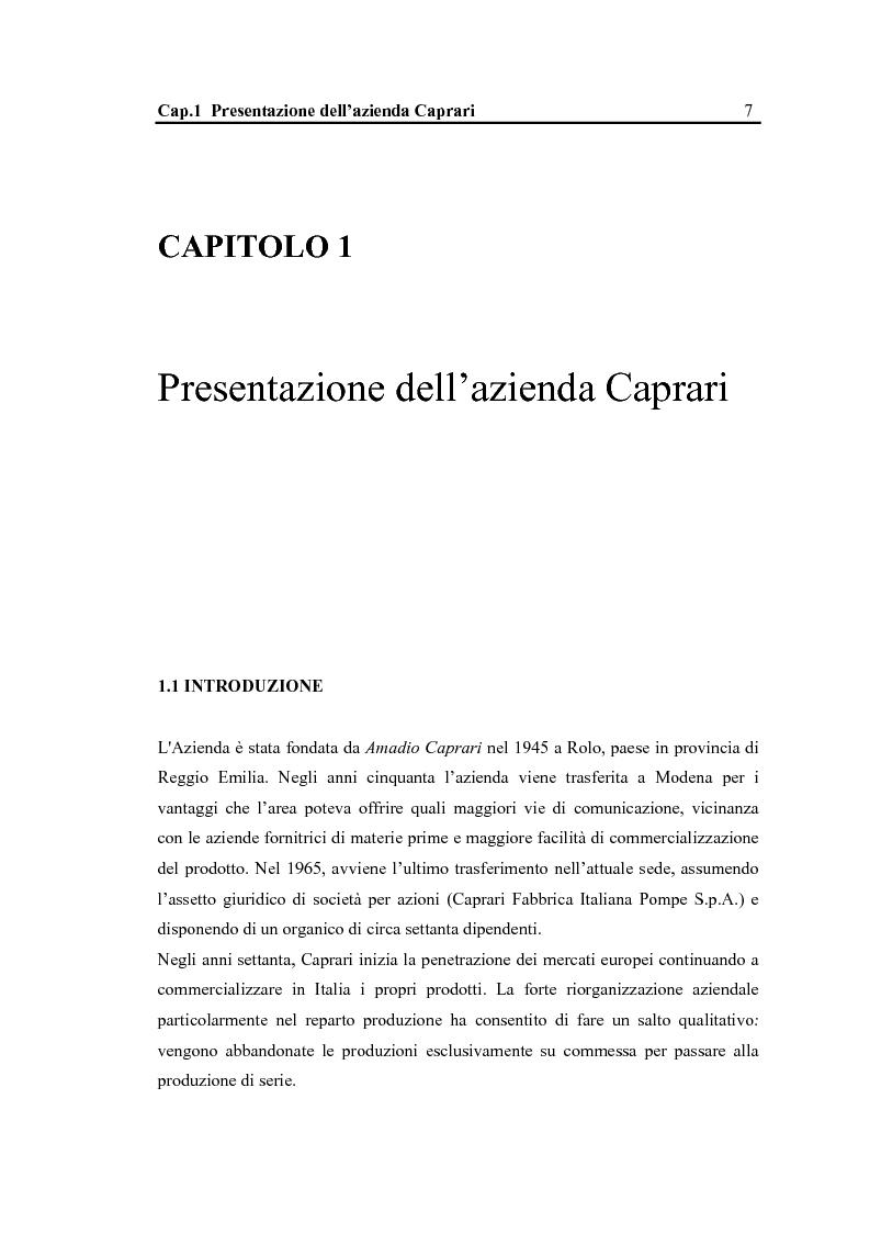 Anteprima della tesi: La configurazione di prodotto in ambiente Sap R/3: il caso Caprari, Pagina 3