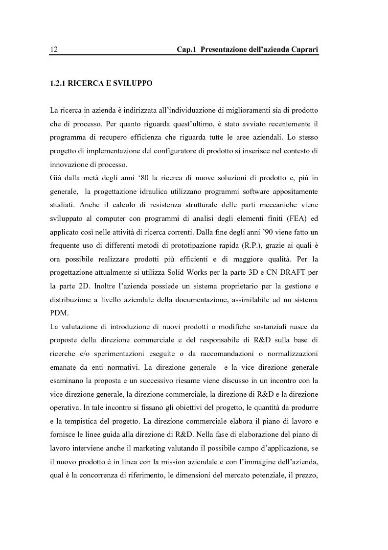 Anteprima della tesi: La configurazione di prodotto in ambiente Sap R/3: il caso Caprari, Pagina 8