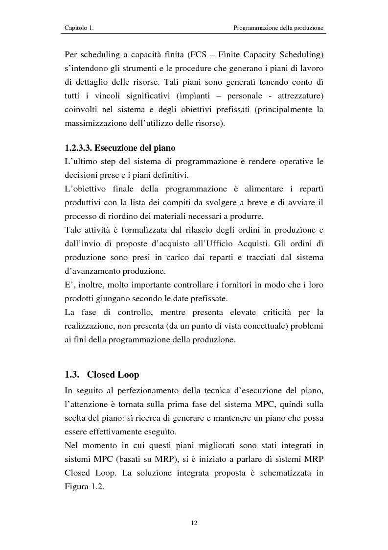 Anteprima della tesi: Procedure di programmazione della produzione di reparti produttivi di un team di Formula 1, Pagina 12