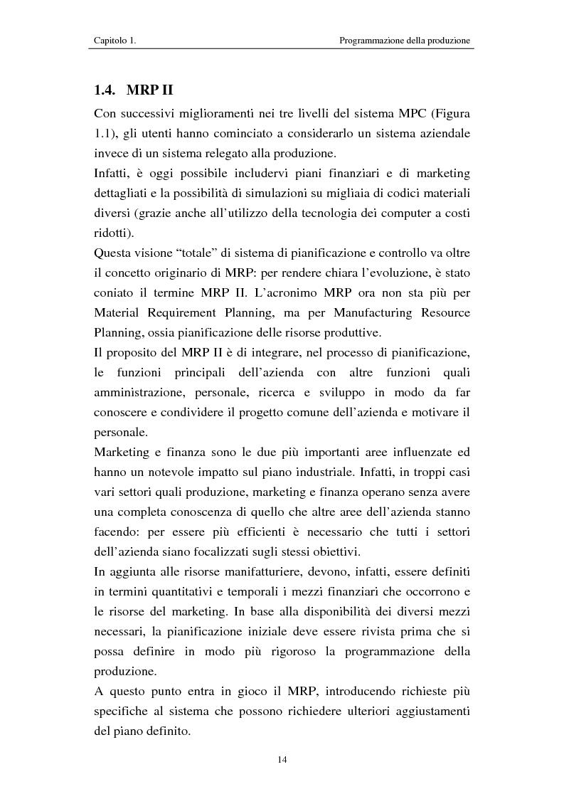 Anteprima della tesi: Procedure di programmazione della produzione di reparti produttivi di un team di Formula 1, Pagina 14