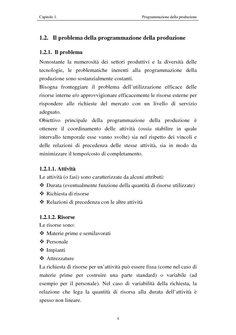 Anteprima della tesi: Procedure di programmazione della produzione di reparti produttivi di un team di Formula 1, Pagina 4