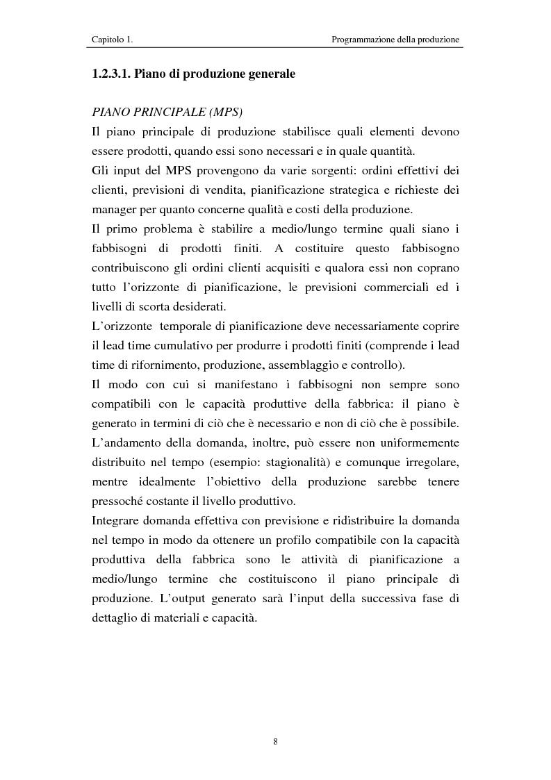 Anteprima della tesi: Procedure di programmazione della produzione di reparti produttivi di un team di Formula 1, Pagina 8