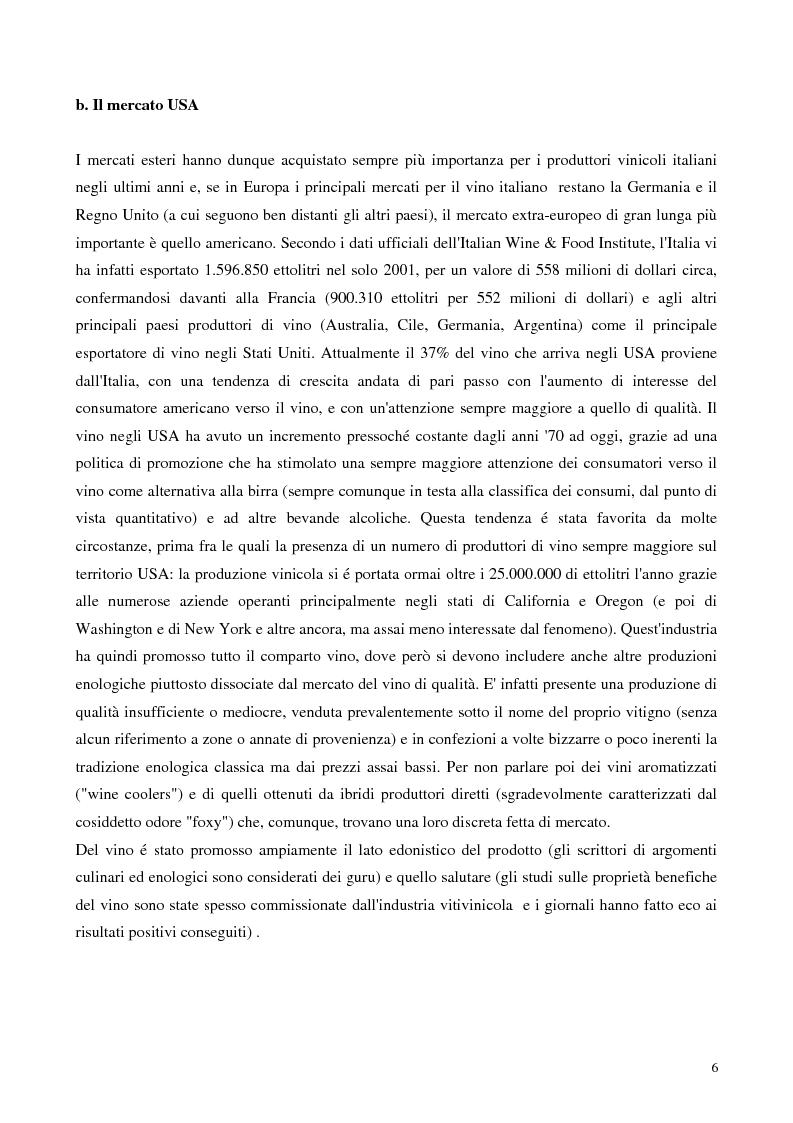 Anteprima della tesi: L'export del Chianti Classico verso il mercato Usa, Pagina 4