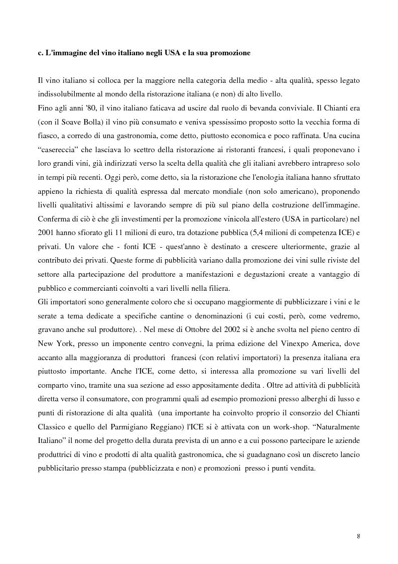 Anteprima della tesi: L'export del Chianti Classico verso il mercato Usa, Pagina 6