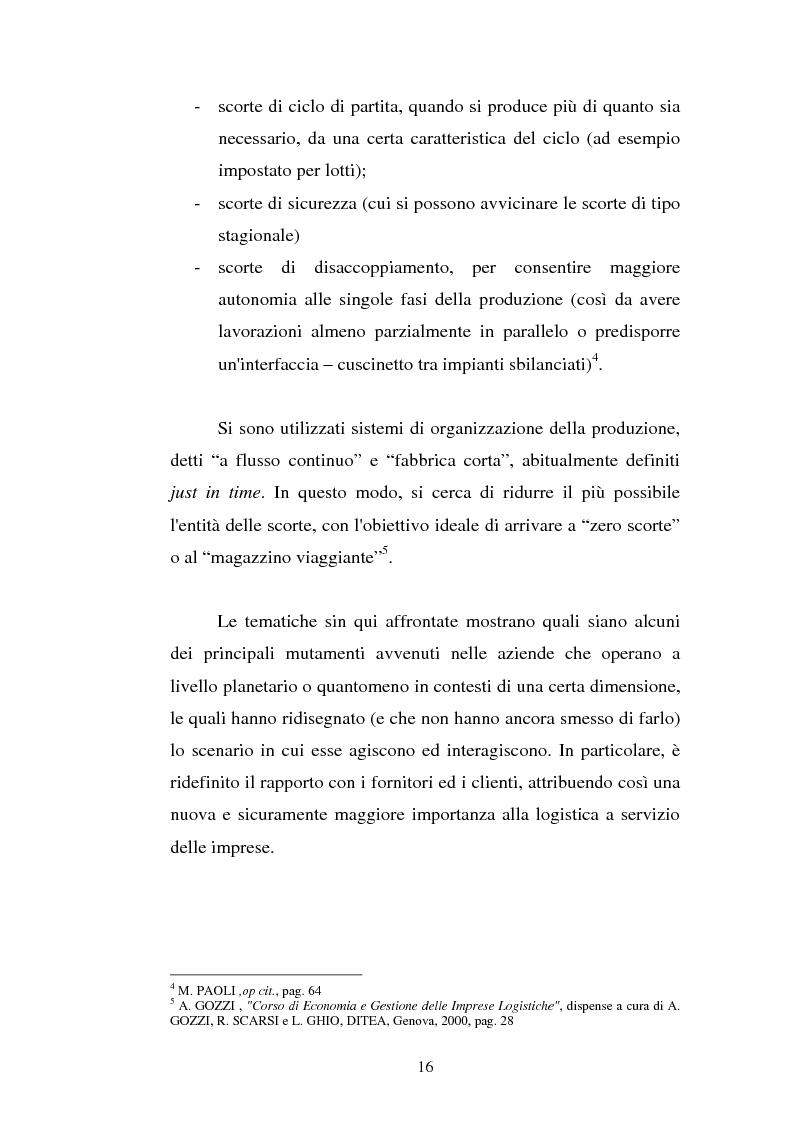 Anteprima della tesi: Analisi localizzativa di una base logistica a servizio del porto di Genova, Pagina 10