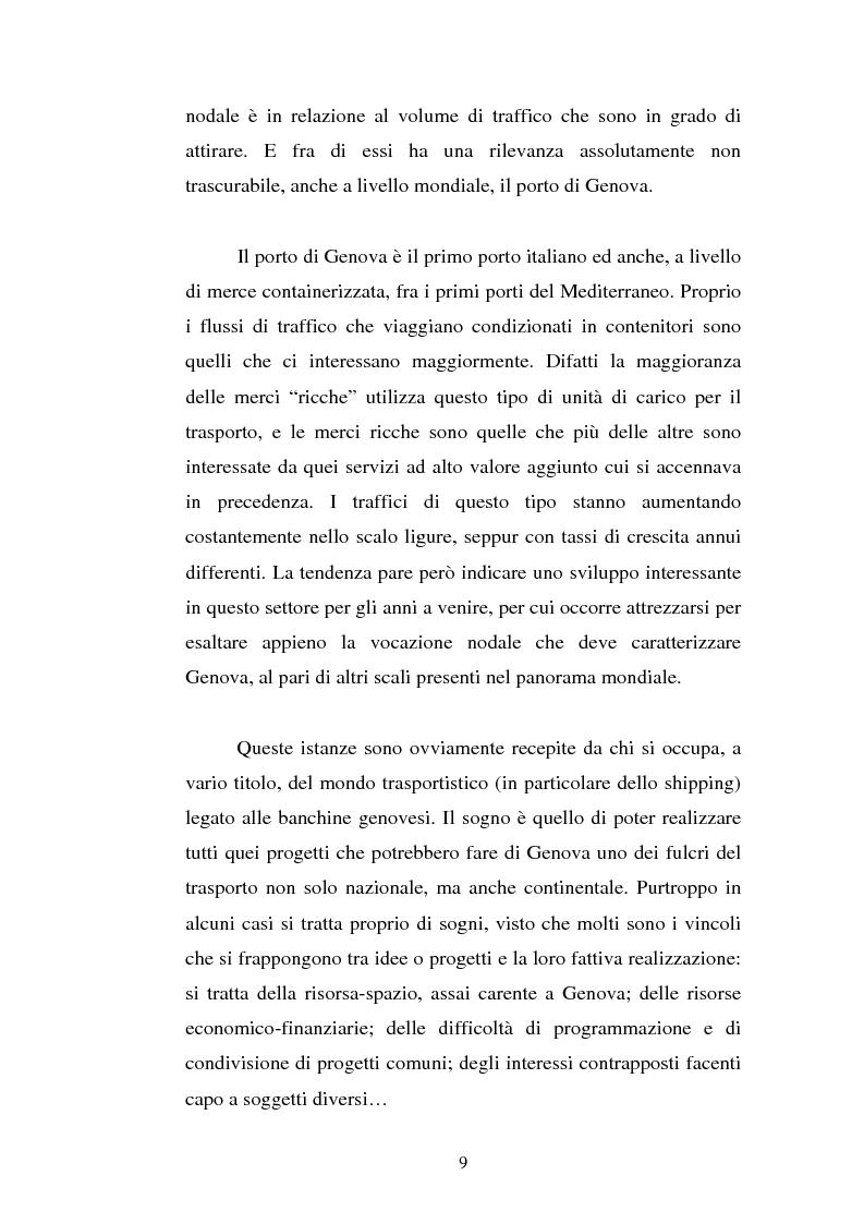 Anteprima della tesi: Analisi localizzativa di una base logistica a servizio del porto di Genova, Pagina 3