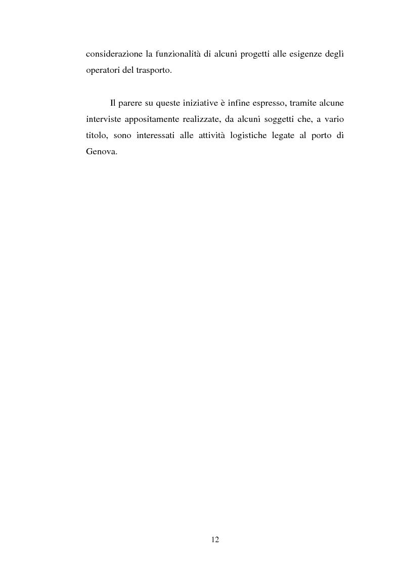 Anteprima della tesi: Analisi localizzativa di una base logistica a servizio del porto di Genova, Pagina 6