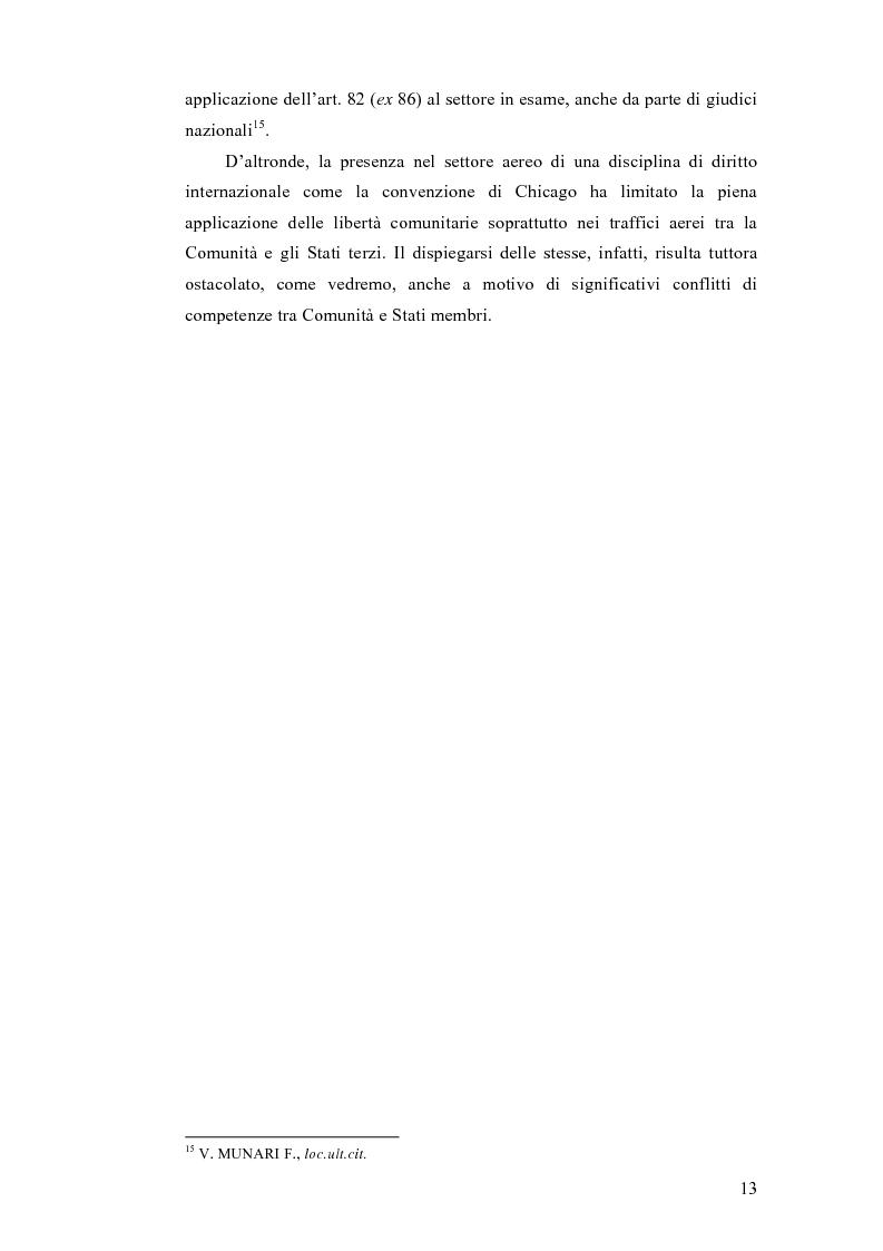 Anteprima della tesi: La liberalizzazione dei trasporti aerei nell'Unione europea, Pagina 9