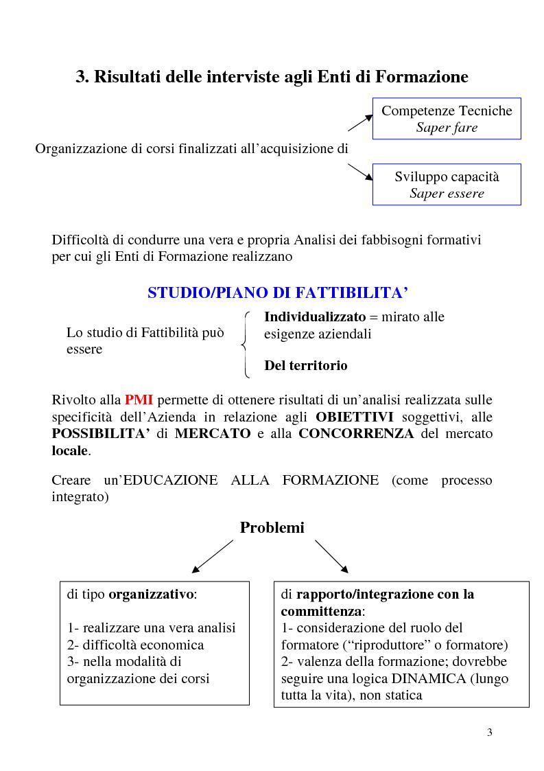 Anteprima della tesi: Analisi dei fabbisogni formativi. Una ricerca empirica nelle metodologie adottate da alcune realtà nel territorio ligure, Pagina 3