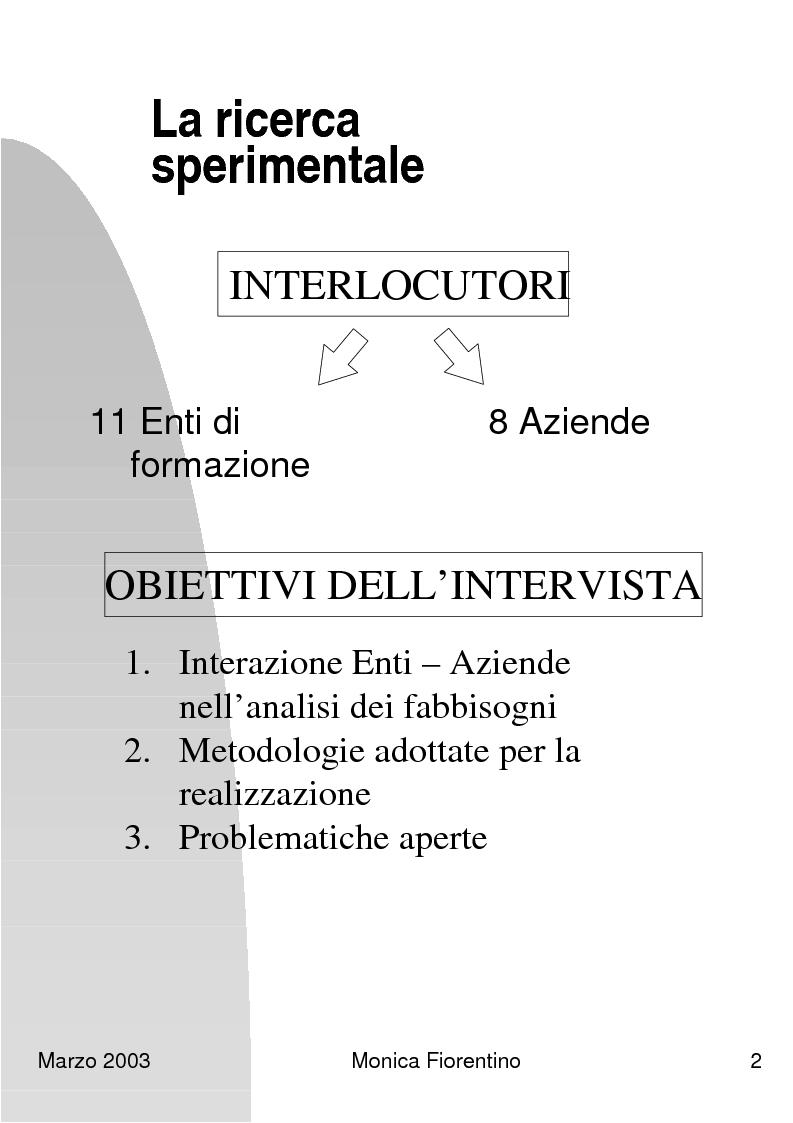 Anteprima della tesi: Analisi dei fabbisogni formativi. Una ricerca empirica nelle metodologie adottate da alcune realtà nel territorio ligure, Pagina 7