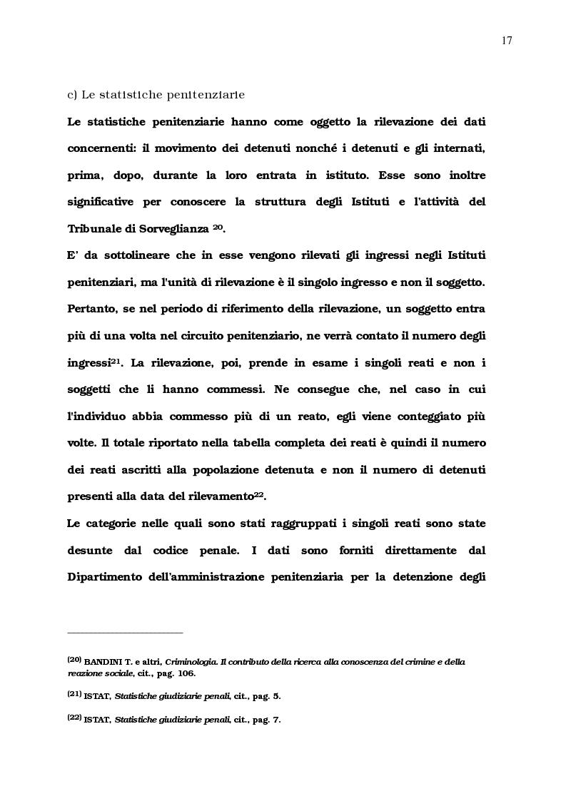 Anteprima della tesi: La diffusione del comportamento criminale: il problema del campo oscuro, Pagina 11
