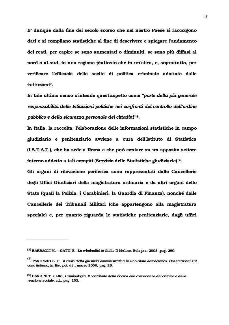Anteprima della tesi: La diffusione del comportamento criminale: il problema del campo oscuro, Pagina 7