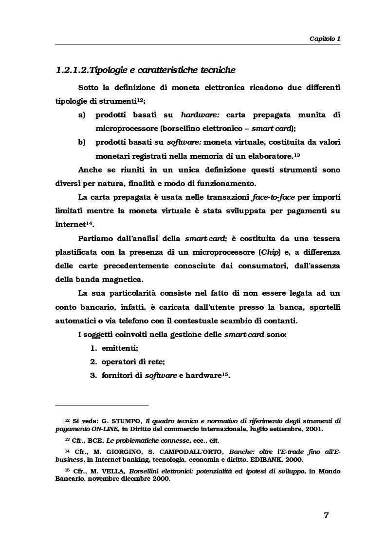 Anteprima della tesi: Gli strumenti e i servizi di pagamento innovativi: funzionamento, soggetti e rischio operativo, Pagina 10