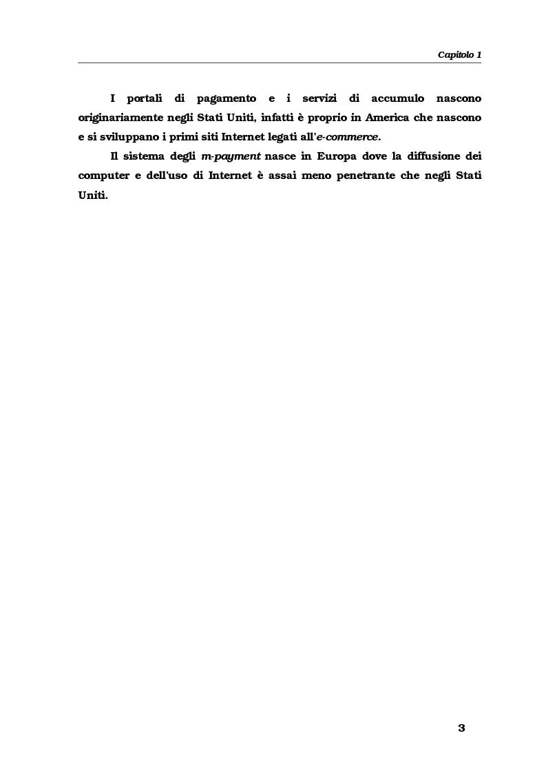Anteprima della tesi: Gli strumenti e i servizi di pagamento innovativi: funzionamento, soggetti e rischio operativo, Pagina 6