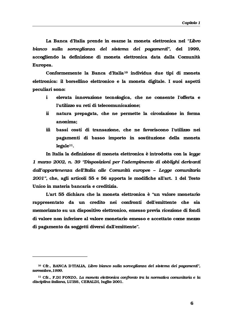 Anteprima della tesi: Gli strumenti e i servizi di pagamento innovativi: funzionamento, soggetti e rischio operativo, Pagina 9
