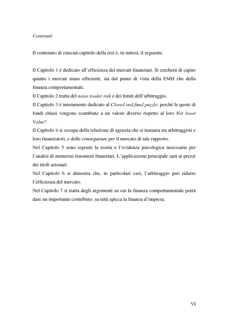 Anteprima della tesi: Finanza comportamentale ed efficienza dei mercati finanziari, Pagina 6