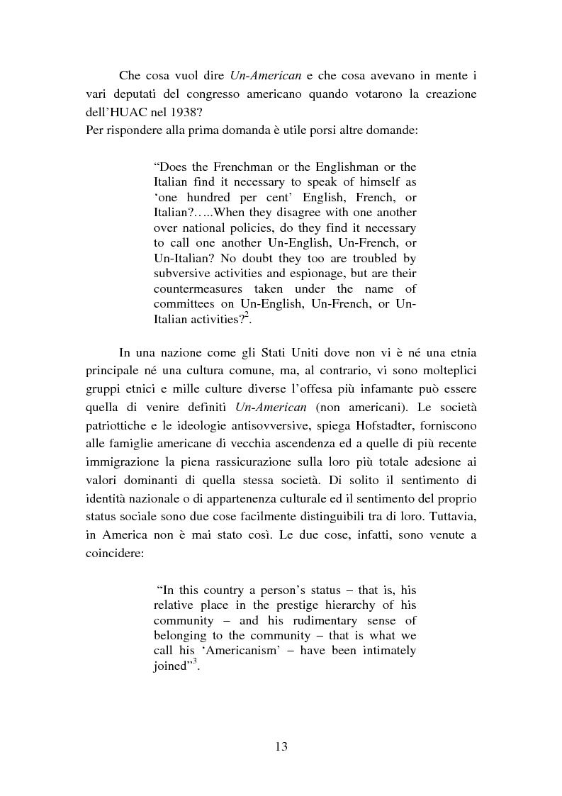 Anteprima della tesi: Il processo degli Hollywood Ten: l'Inizio della witch-hunt e della blacklist a Hollywood, Pagina 13
