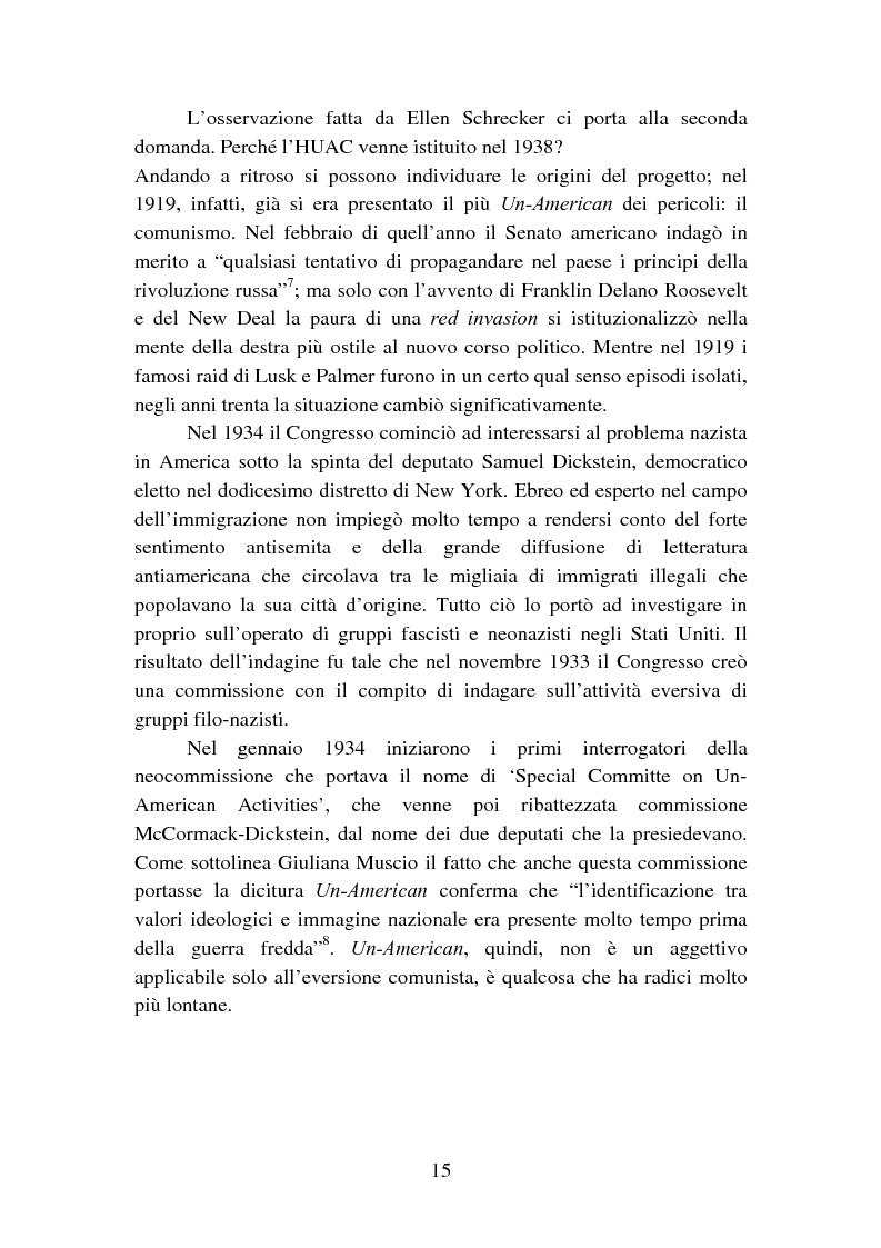 Anteprima della tesi: Il processo degli Hollywood Ten: l'Inizio della witch-hunt e della blacklist a Hollywood, Pagina 15