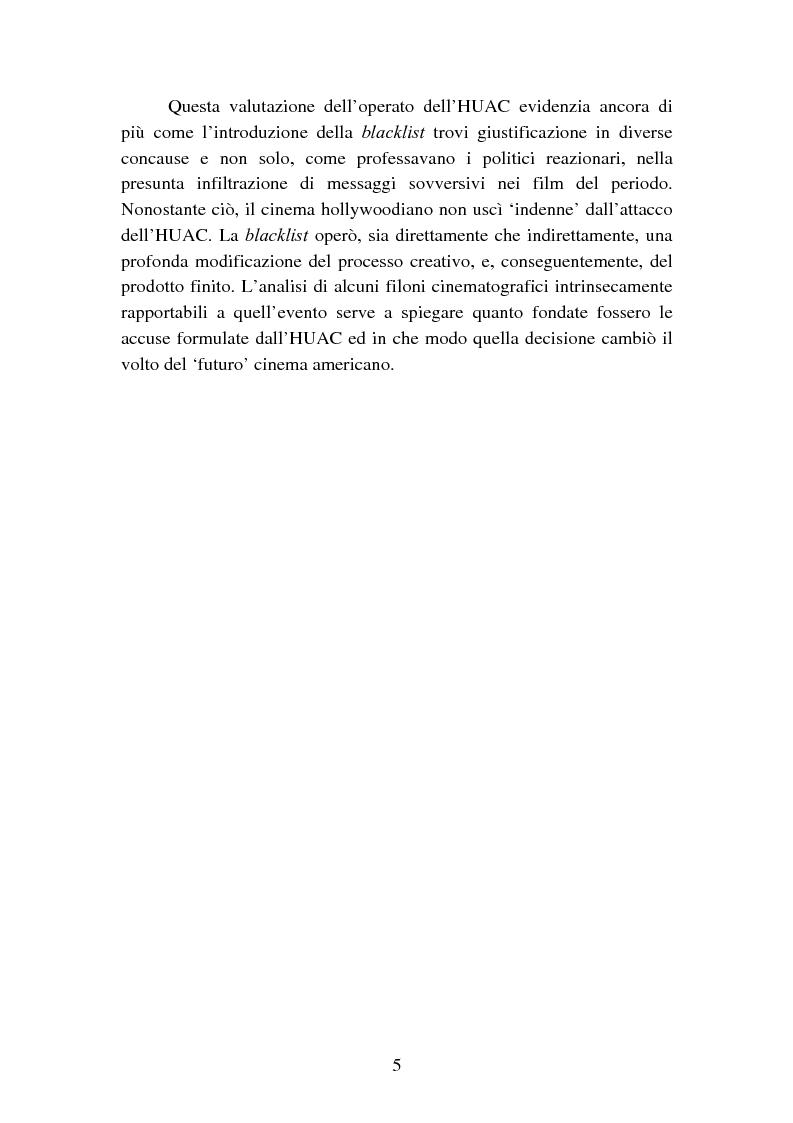 Anteprima della tesi: Il processo degli Hollywood Ten: l'Inizio della witch-hunt e della blacklist a Hollywood, Pagina 5