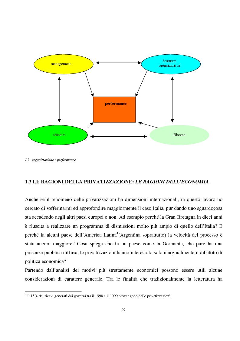 Anteprima della tesi: La privatizzazione nei settori di pubblica utilità. Analisi economica e il caso Italia, Pagina 13
