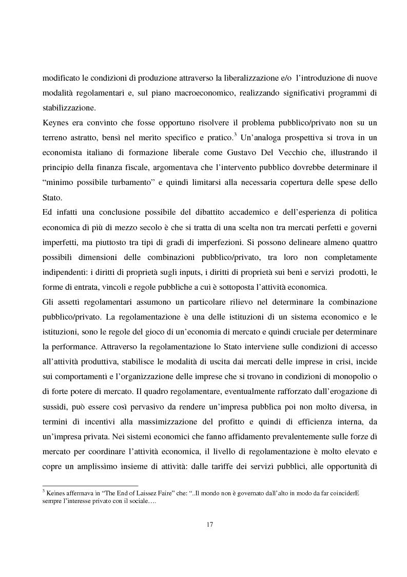 Anteprima della tesi: La privatizzazione nei settori di pubblica utilità. Analisi economica e il caso Italia, Pagina 8
