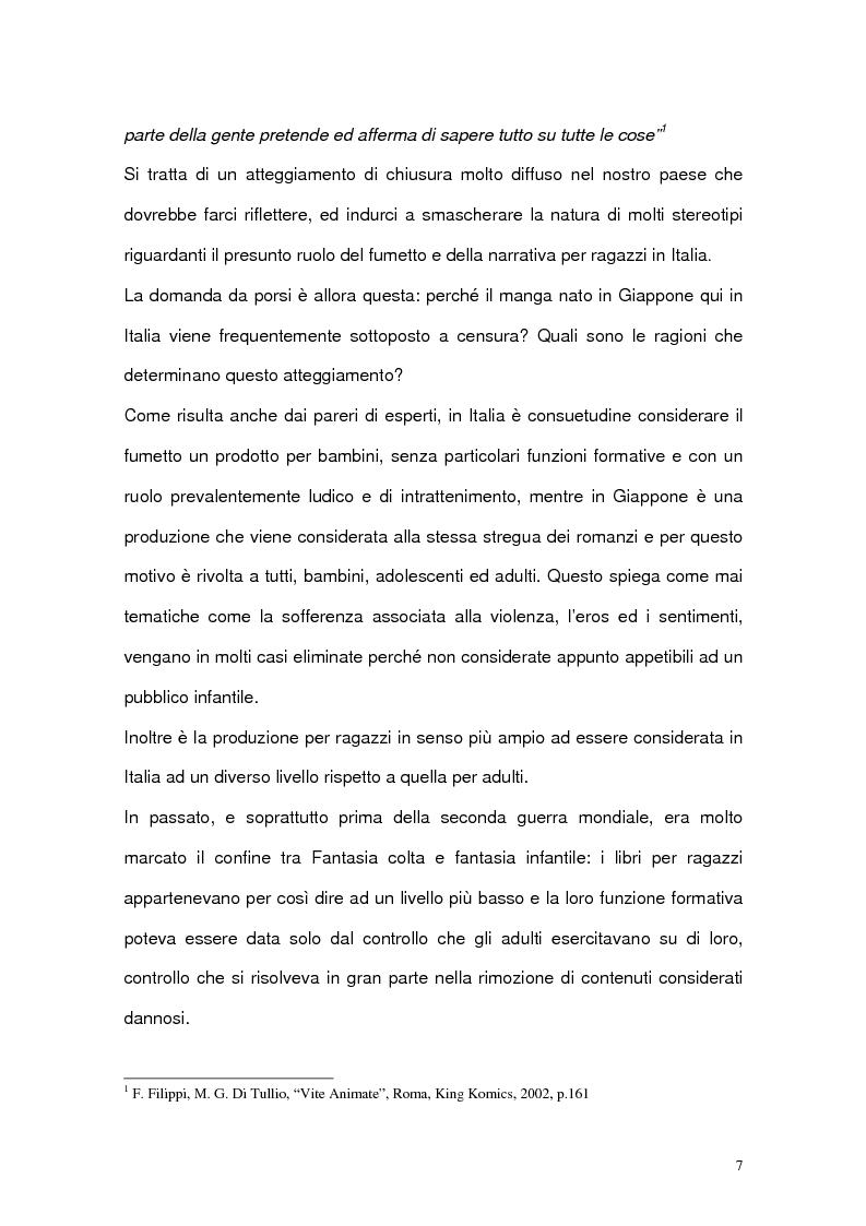 Anteprima della tesi: La funzione pedagogica di fumetti e manga, Pagina 5