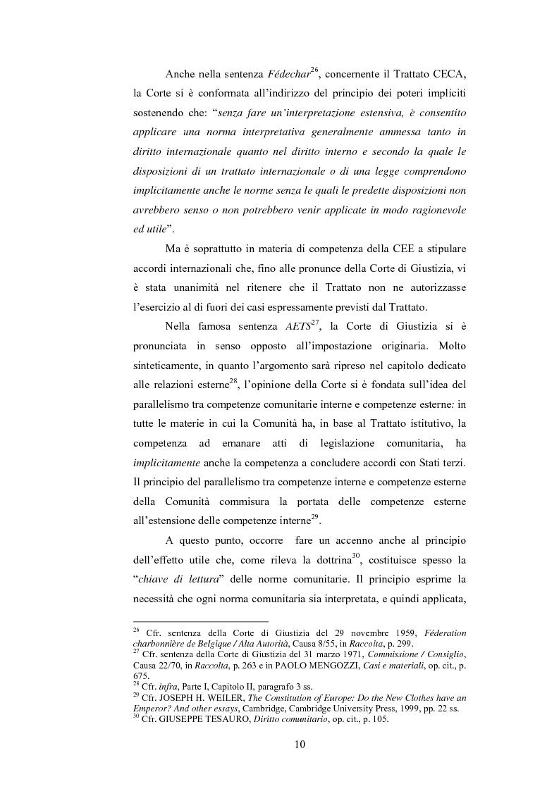 Anteprima della tesi: La ripartizione delle competenze tra l'Unione europea e gli stati membri nella futura Costituzione dell'Europa, Pagina 10