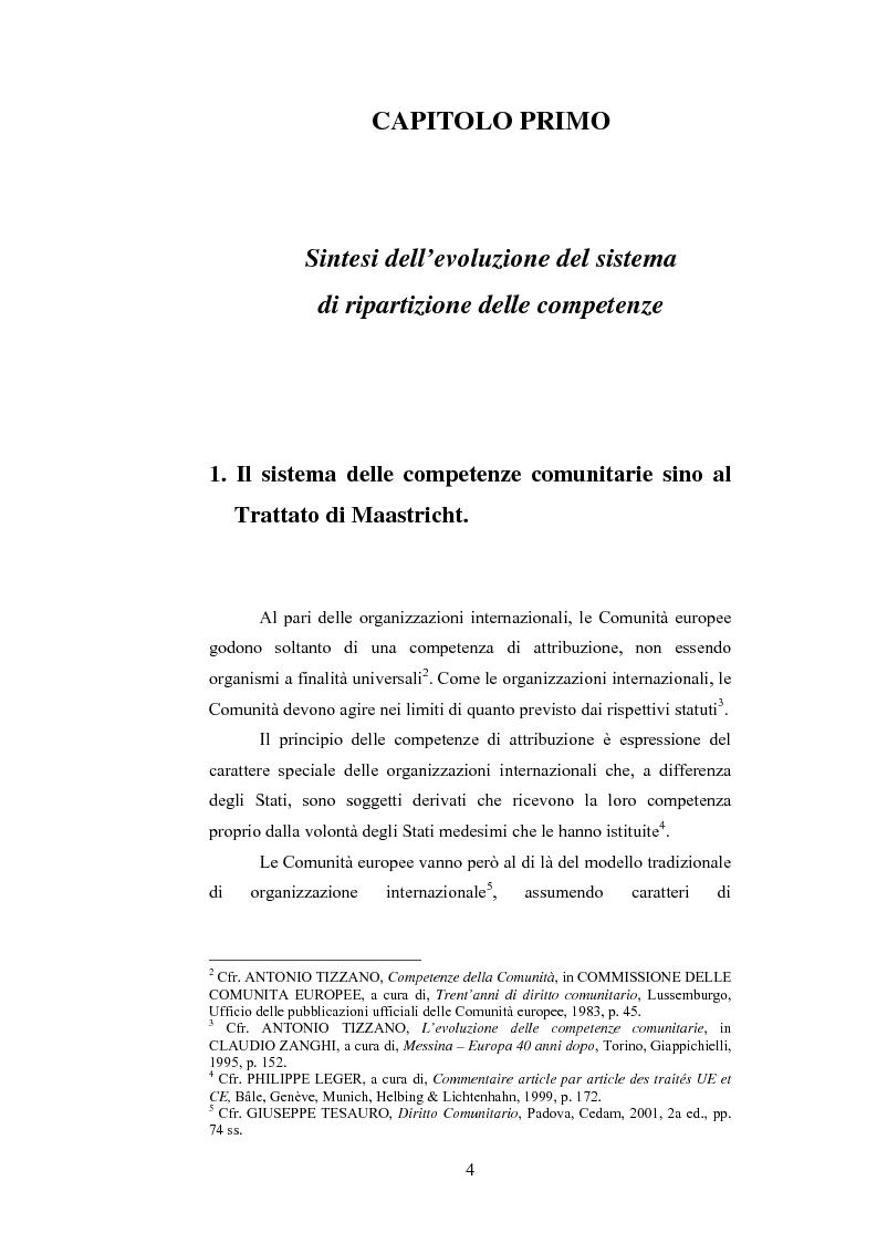 Anteprima della tesi: La ripartizione delle competenze tra l'Unione europea e gli stati membri nella futura Costituzione dell'Europa, Pagina 4