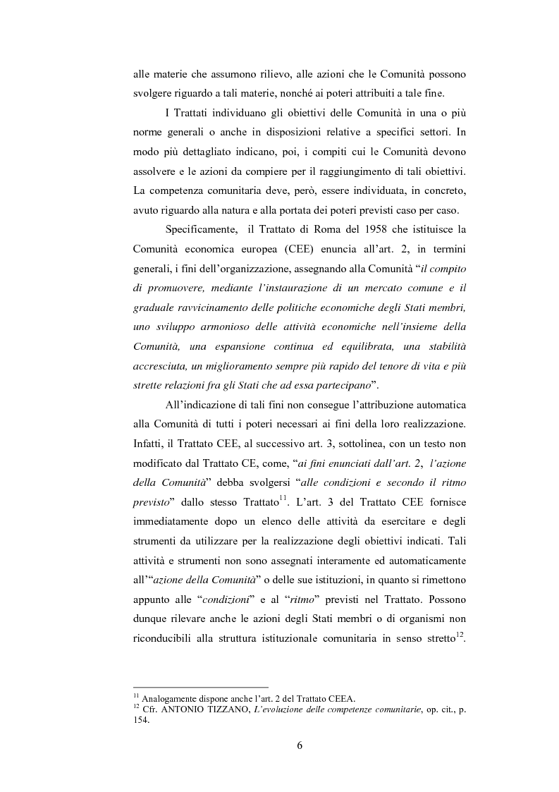 Anteprima della tesi: La ripartizione delle competenze tra l'Unione europea e gli stati membri nella futura Costituzione dell'Europa, Pagina 6