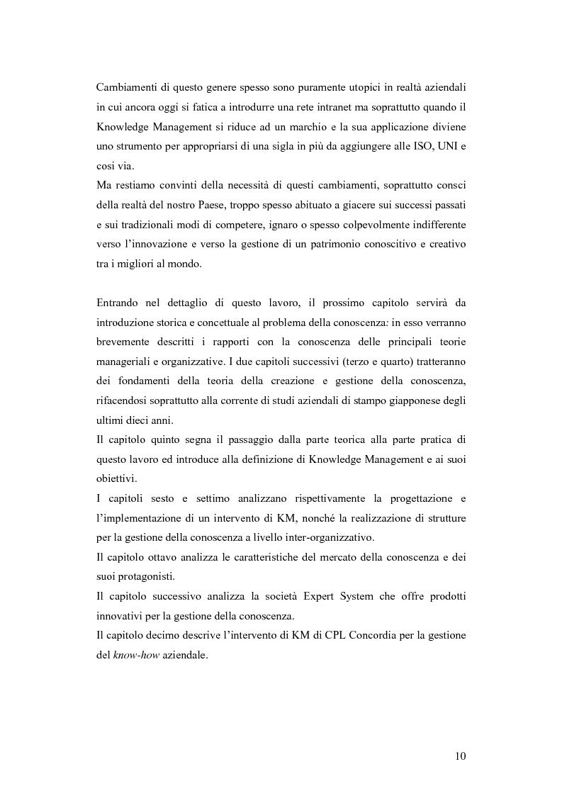 Anteprima della tesi: Una nuova via all'innovazione: creare e gestire la conoscenza grazie al knowledge management, Pagina 3