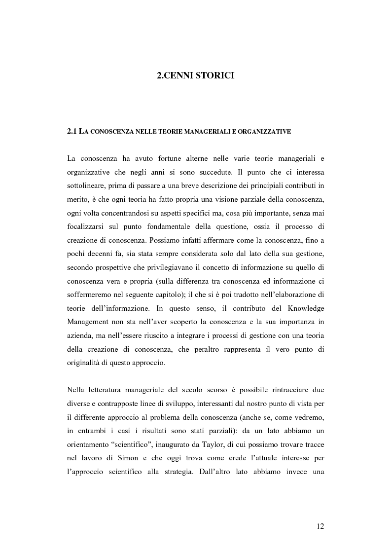 Anteprima della tesi: Una nuova via all'innovazione: creare e gestire la conoscenza grazie al knowledge management, Pagina 5