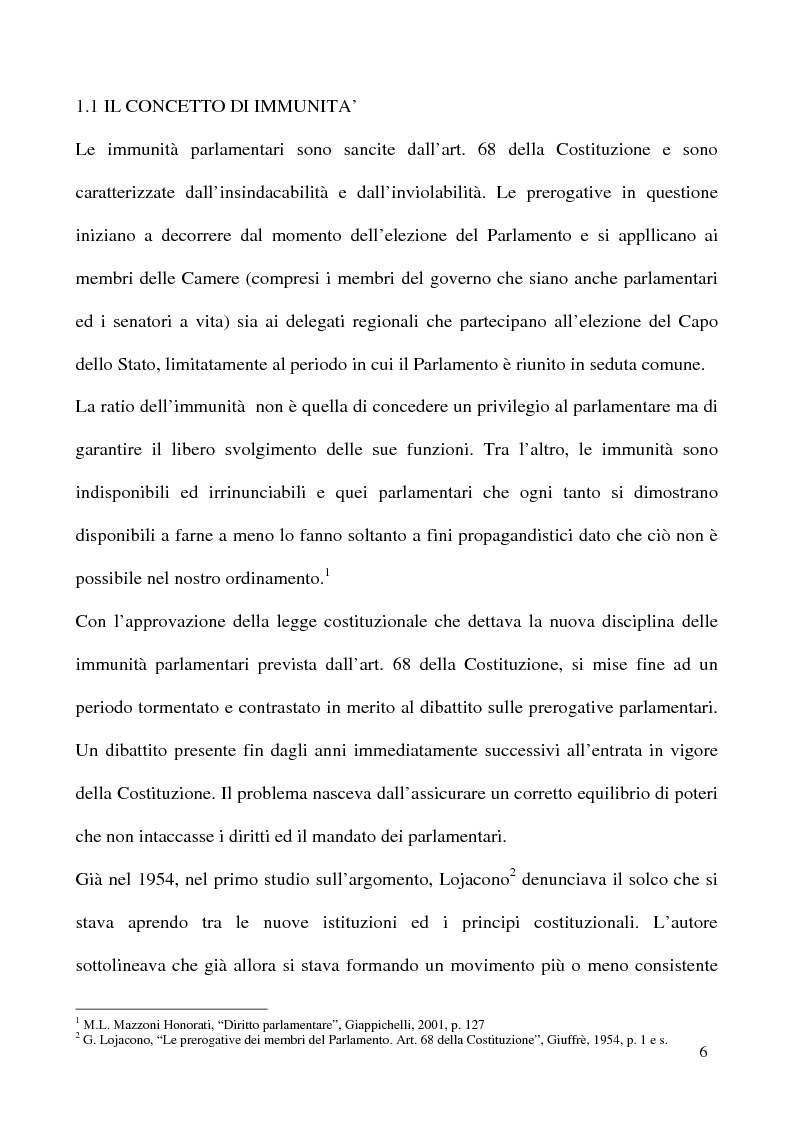 Anteprima della tesi: L'insindacabilità dei membri delle Camere, Pagina 3