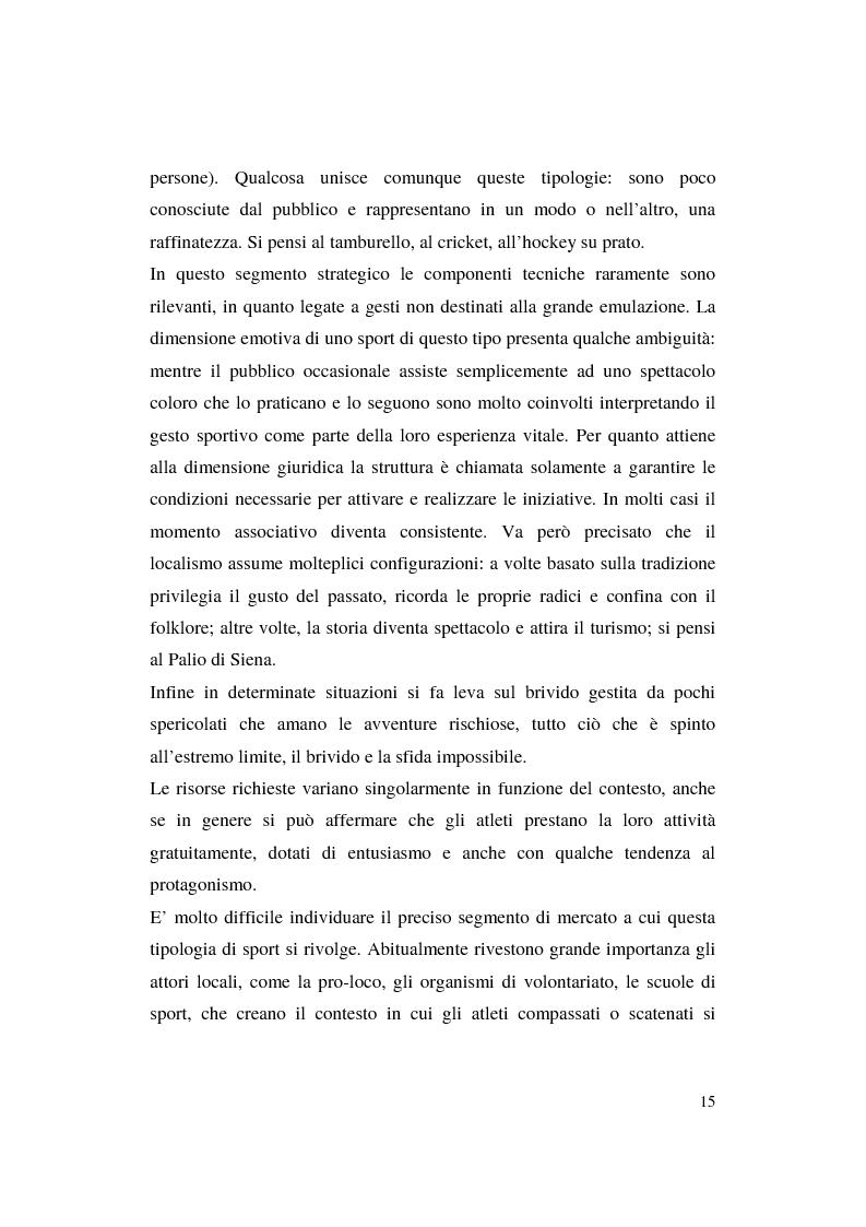 Anteprima della tesi: Misurazione e comunicazione nelle aziende sportive non profit. Il caso Polisportiva Paolo Poggi, Pagina 12