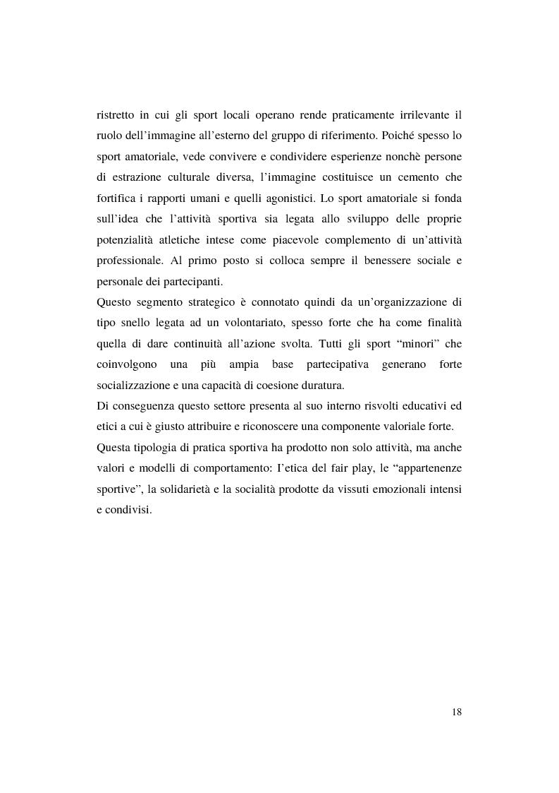 Anteprima della tesi: Misurazione e comunicazione nelle aziende sportive non profit. Il caso Polisportiva Paolo Poggi, Pagina 15