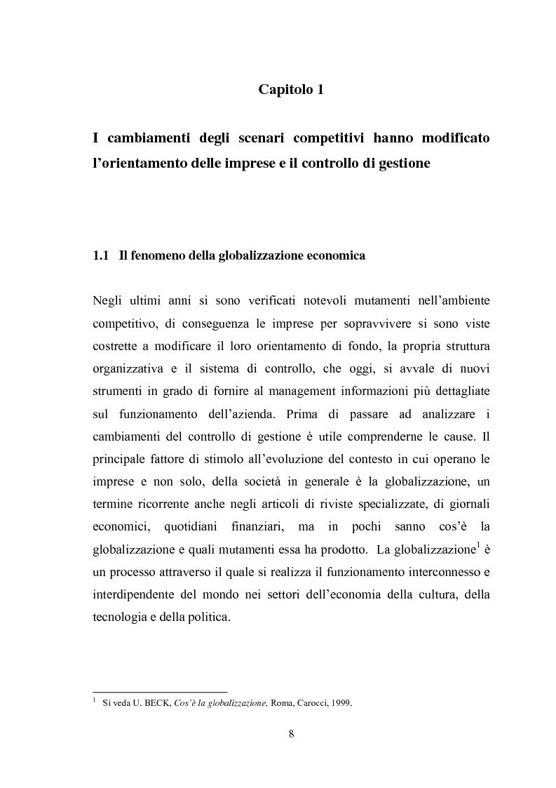 Anteprima della tesi: Il sistema di reporting: il caso Despar Calabria, Pagina 8