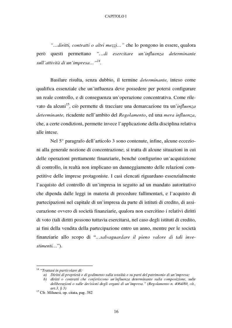 Anteprima della tesi: Evoluzione recente e prospettive di riforma della disciplina comunitaria delle concentrazioni orizzontali, Pagina 10
