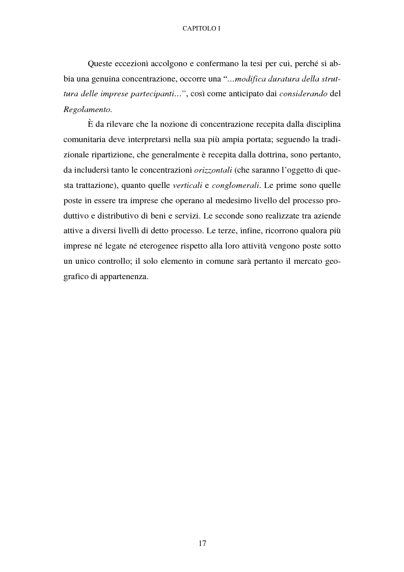 Anteprima della tesi: Evoluzione recente e prospettive di riforma della disciplina comunitaria delle concentrazioni orizzontali, Pagina 11