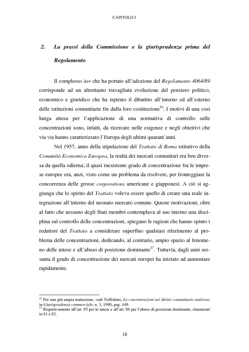 Anteprima della tesi: Evoluzione recente e prospettive di riforma della disciplina comunitaria delle concentrazioni orizzontali, Pagina 12