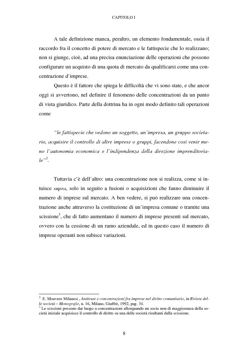 Anteprima della tesi: Evoluzione recente e prospettive di riforma della disciplina comunitaria delle concentrazioni orizzontali, Pagina 2