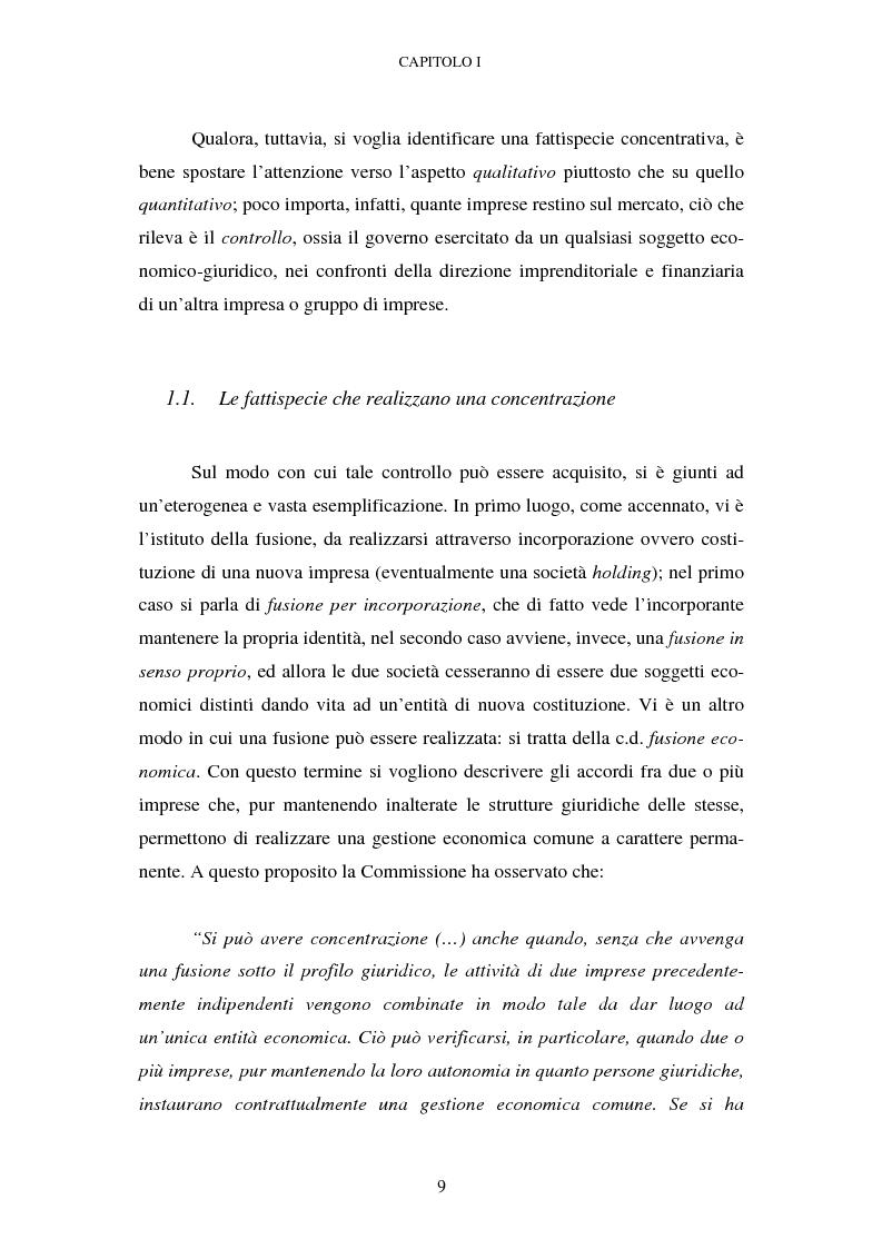 Anteprima della tesi: Evoluzione recente e prospettive di riforma della disciplina comunitaria delle concentrazioni orizzontali, Pagina 3